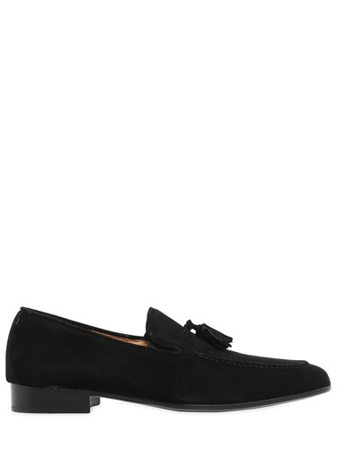DINO DRAGHI Suede Tasseled Loafers FH0IC