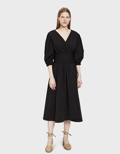 Rejina Pyo Miriam Wrap Dress Botton Black fu0ggj