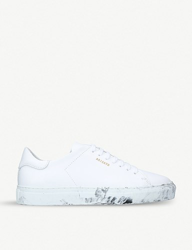 Axel Arigato Dirt Effect Leather Trainers White U1zR8