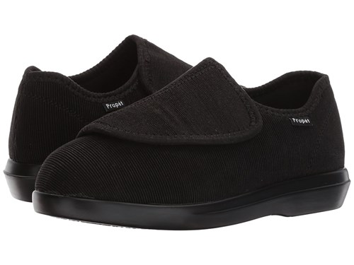 Propet Cush 'N Foot Medicare Hcpcs Code A5500 Diabetic Shoe Black Corduroy Hook And Loop Shoes jUmKjqc