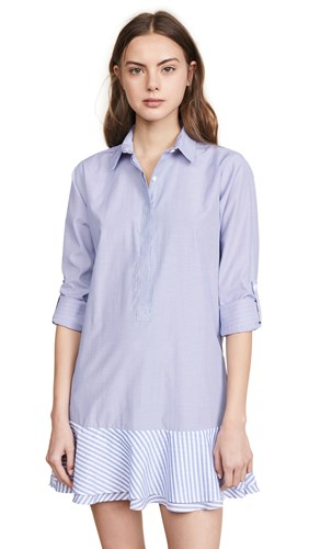 Fred and Sibel Striped Shirtdress Blue White Stripe IPgDmM