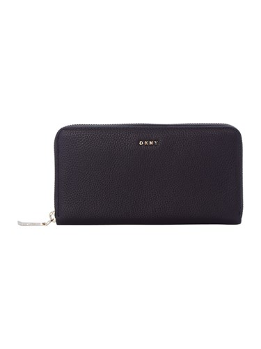 DKNY Chelsea Pebble Large Zip Around Purse Black u7OQKI6