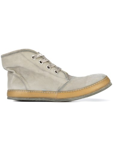 A Diciannoveventitre S3 Hi Top Sneakers Horse Leather Leather Rubber Grey TGRekgeN