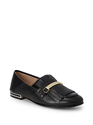 Karl Lagerfeld Leather Tassel Loafers Black VR2cVv