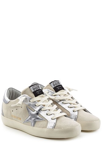 Golden Goose Superstar Suede And Leather Sneakers White zHtXy1qtl