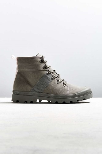 Urban Outfitters Uo Justin Canvas Lace Up Boot Grey sKPHTHw