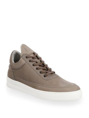 Filling Pieces Low Top Lane Leather Sneakers Light Grey WDdOWG