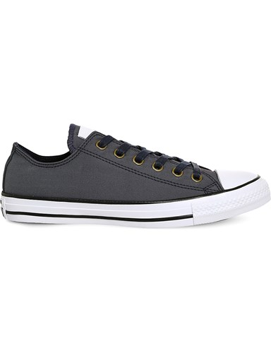 Converse All Star Canvas Low Top Trainers Obsidian White sxUtykF
