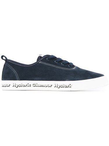 Hysteric Glamour Side Logo Lace Up Sneakers Blue KK8PY