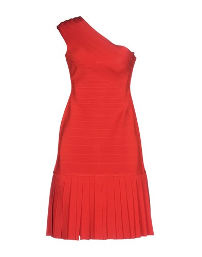 Dresses Max Red By Herve Leger Azria Short qvw1PRXpRx