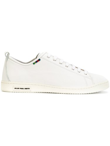 Paul Smith Ps By Lace Up Sneakers Men Calf Leather Leather Rubber 11 White iq39g