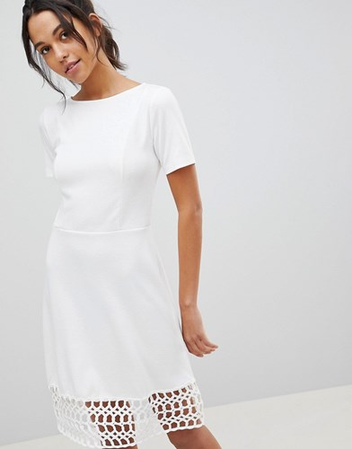 Dress A Hem Crochet S Y White Y8qZIWw