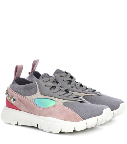Valentino Garavani Heroes Embellished Sneakers Multicoloured LCSWsr