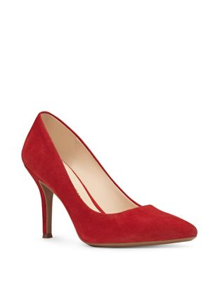 Nine West Fifth Patterned Stiletto Pumps Red lkrasSL2s