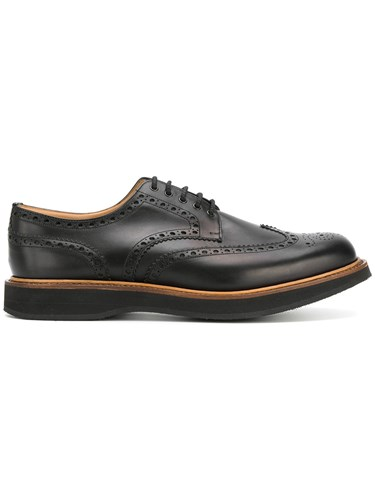Church's Derby Shoes Calf Leather Leather Rubber Black x5tDsggLj