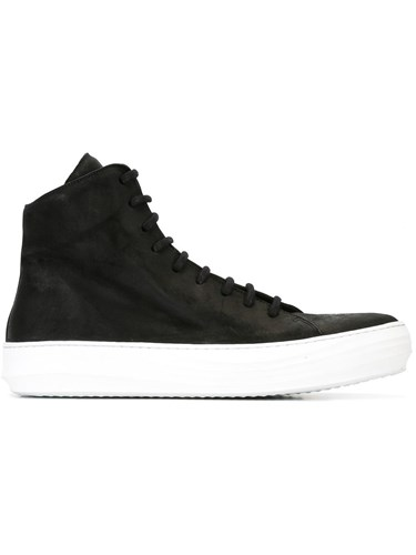 The Last Conspiracy Ollie Hi Top Sneakers Leather Rubber Black ckUXas