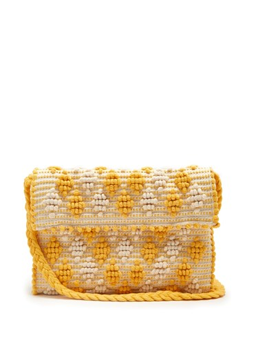 ANTONELLO TEDDE Suni Rombetti Cotton Cross Body Bag Yellow White eGw0i