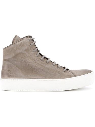 The Last Conspiracy Lace Up Hi Tops Rubber Calf Leather Leather Grey P37fD