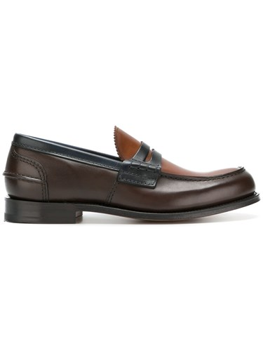 Church's Leather Pembrey Loafers Brown i2VMIbYi