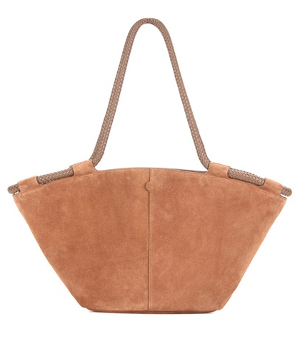 The Row Market Suede Tote Brown o6SsQp