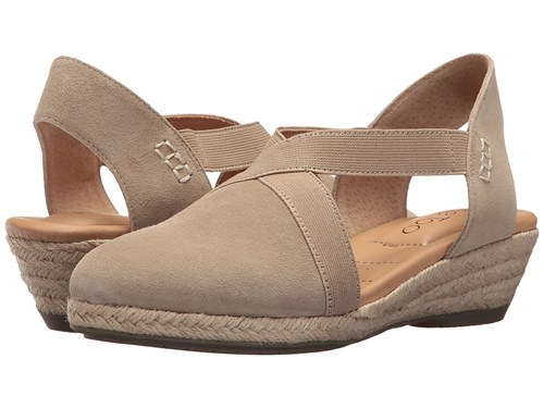 Me Too Nissa Sand Oiled Velvet Split Suede Wedge Shoes Taupe vCtToXRV