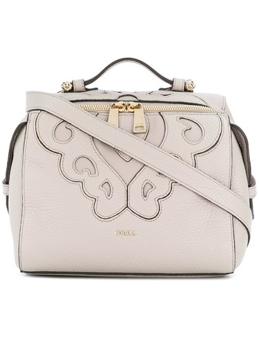 Furla Stitched Panel Crossbody Bag Nude And Neutrals YHuZb