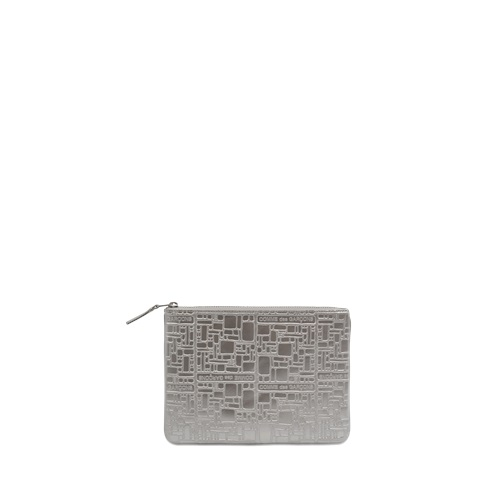 Comme des Garcons Zipped Clutch Embossed Logotype Sa5100eg 0N1ig