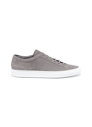 Common Projects 'Achilles Low' Suede Sneakers Grey t3baNGatZ
