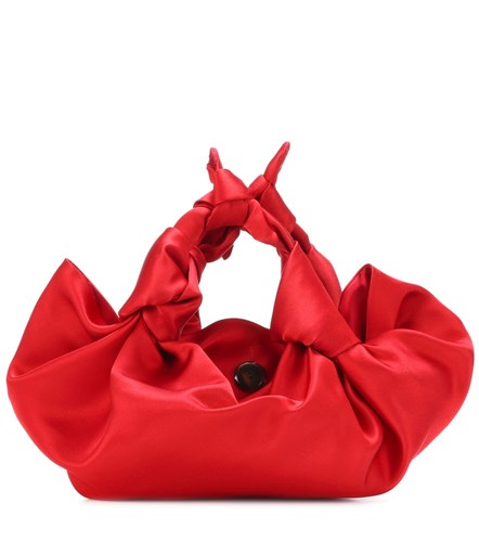The Row Ascot Satin Clutch Red 5yGFXzwQ