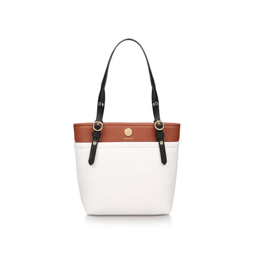 Anne Klein Geo Pocket Tote Black White ZMBjFof