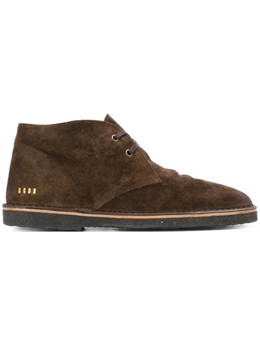 Golden Goose Deluxe Brand City Desert Boots Men Leather Suede Rubber 41 Brown HpE3ynoz1x