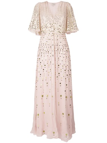 Temperley London Riviera Maxi Dress Pink And Purple 2Jviw