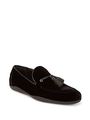 Harry's of London Velvet Tassel Loafer Black barFf1Njd