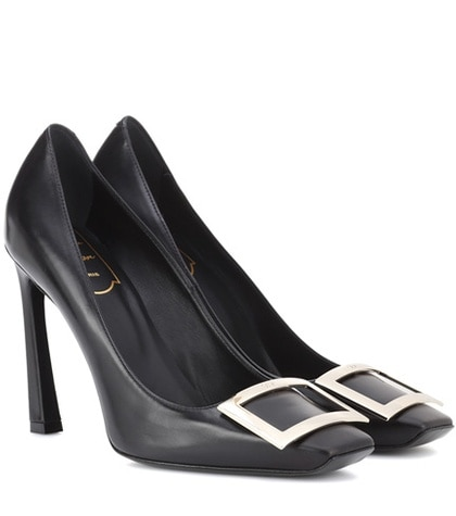 Vivier Roger Black Leather Belle Trompette Pumps YPxp1qSw