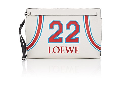 Loewe T Leather Pouch White Oba3DzsS