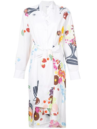 Loewe Asymmetric Shirt Dress Cotton White tn5Ff1