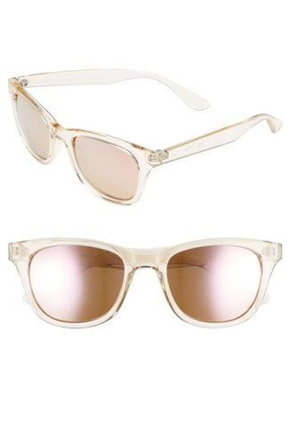 Maddie 52Mm Polarized Mirrored Sunglasses Crystal Gold Pink Crystal Gold Pink