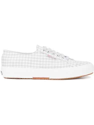 Superga Gingham Check Sneakers Grey F3zaCOw