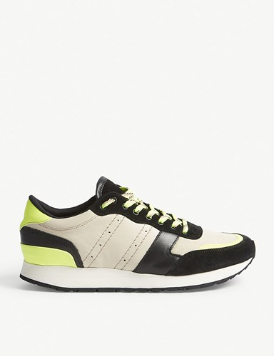 The Kooples Leather Suede Low Top Trainers Flu01 v17dSu