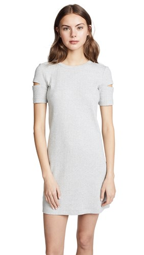 Helmut Lang Wide Rib Dress Heather Grey LW0OnM
