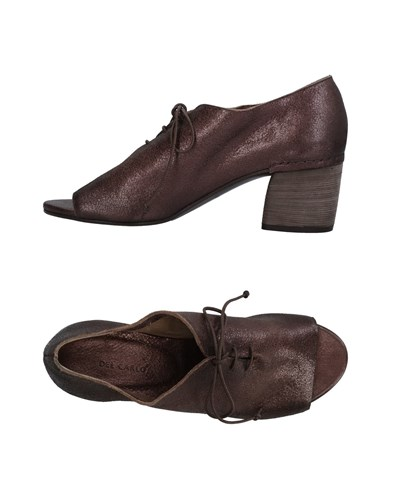 DEL CARLO Lace Up Shoes Dark Brown qWFe9