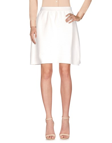 Knee Length Skirts White