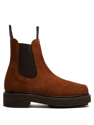 Eytys Ortega Suede Chelsea Boots Brown k3fAegWWRy