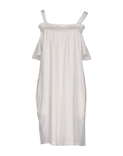 Current/Elliott Knee Length Dresses Ivory Tt4nKlL