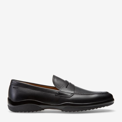 Bally Men's Leather Loafer In Black wIEindNW8