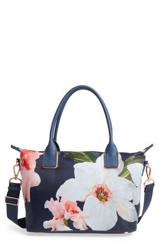 Ted Baker London Small Orsja Chatsworth Bloom Nylon Tote Blue Navy mmVncmZF