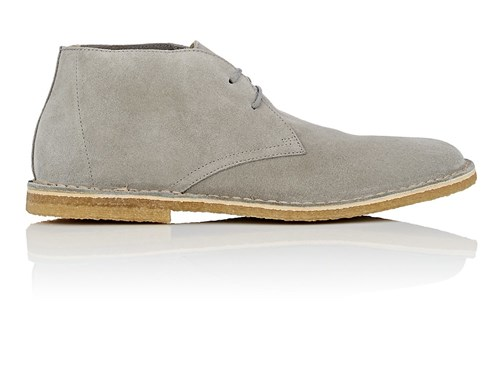 Barneys New York Suede Chukka Boots Gray MPTWjUuWYr