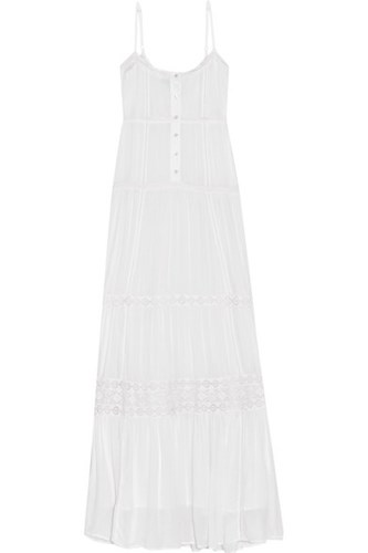 Melissa Odabash Mollie Lace Trimmed Voile Maxi Dress White Z4IUVuU4a