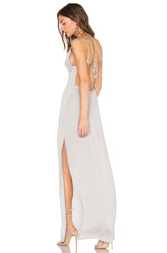 Maxi Deep V Dress X Capulet Gray Revolve HIqZpqnE