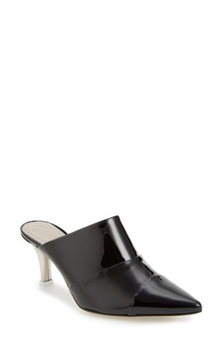 AGL Pointy Toe Mule Black Patent J8Nqis